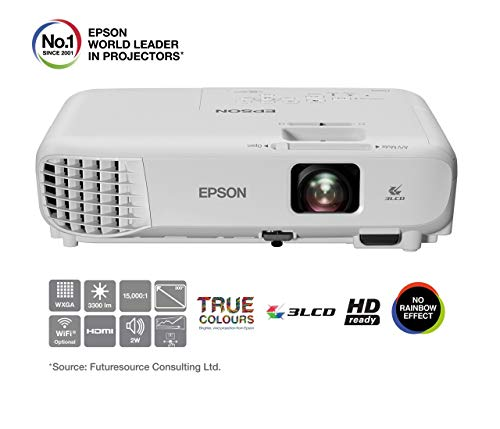 (Renewed) Epson EB-W05 WXGA V11H840040 Projector (White)