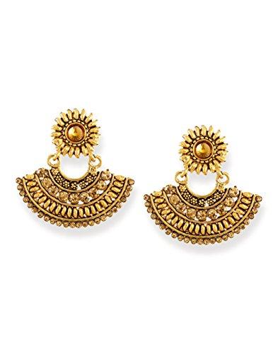 Zaveri Pearls Ethnic Chandbali Earring-ZPFK6617