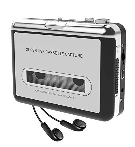 DIGITNOW Microware to MP3 CD Converter Via USB, Portable Cassette Tape Converter Captures MP3 Audio Music, Convert Walkman Tape Cassette to MP3 Format for Laptop and PC