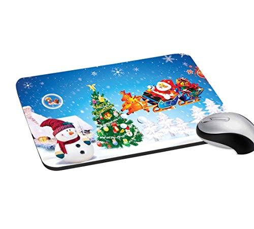 RADANYA Christmas Mouse Pad Non-Slip Rubber Gaming Mouse Pad Mat for Laptop Computer & PC 7.2x8 Inches, Multicolor