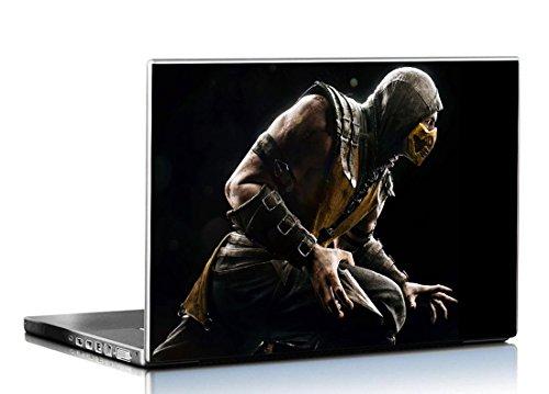 PIXELARTZ Laptop Skin - Mortal Kombat - X Scorpio - Ninja Pose - HD Quality-12 Inches - Multi-Colour