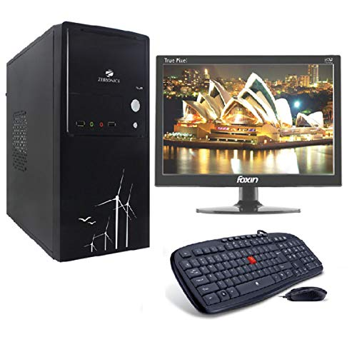 LappyPie Certified and Assembled 15.4 inch LED Monitor Desktop Computers with (Flur Intel Core i5, 3rd Generation 120 GB SSD 4 GB DDR3 RAM | Wired Keyboard and Mouse | 500 GB Hard Drive