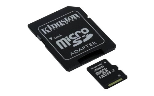 Professional Kingston MicroSDHC 32GB (32 Gigabyte) Card for Samsung GALAXY Note 10.1 Phone with custom formatting and Standard SD Adapter. (SDHC Class 4 Certified)