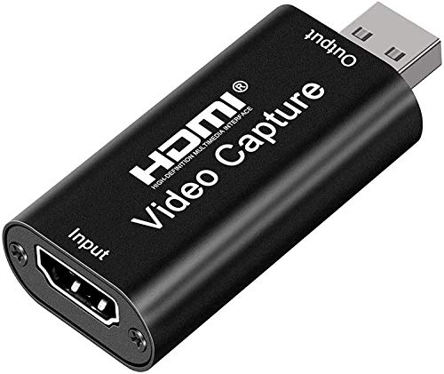 Microware HDMI Video Capture, 4K HDMI to USB 2.0 Video Capture Device, 1080P HD 30fps Broadcast Live and Record Video Audio Grabber for Gaming, Streaming, Teaching, Video Conference (Black)