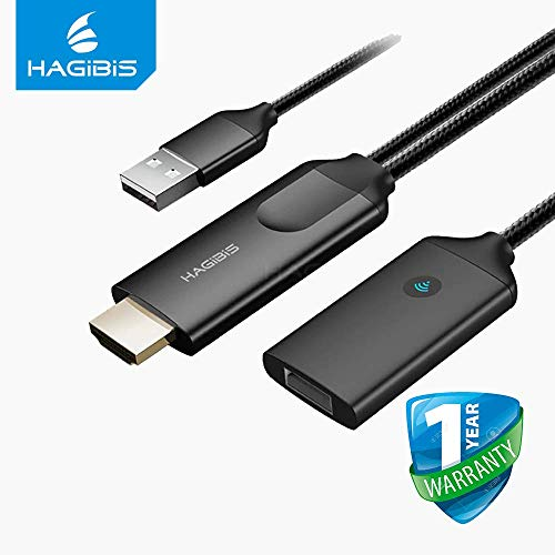 Hagibis Wired and Wireless Dual Mode HDMI Dongle TV Live Streaming Stick 1080P HD Screen Mirroring for iPhone 6 7 8 X iPad MacBook 2.4G WiFi 4K Display DLNA for Android