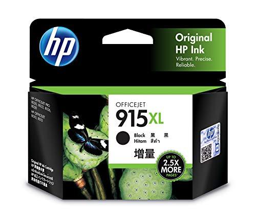 HP 915xl Black Ink Cartridge.