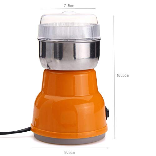 BSITFOW 220V Mini Electric Stainless Steel Grinding Milling Machine Semi-Automatic Coffee Herbs Spices Nuts Grains Bean Grinder Machine Home