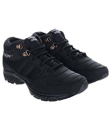 Lancer Men's Black Running Shoes-8 (HYDRA-38BLK-8)