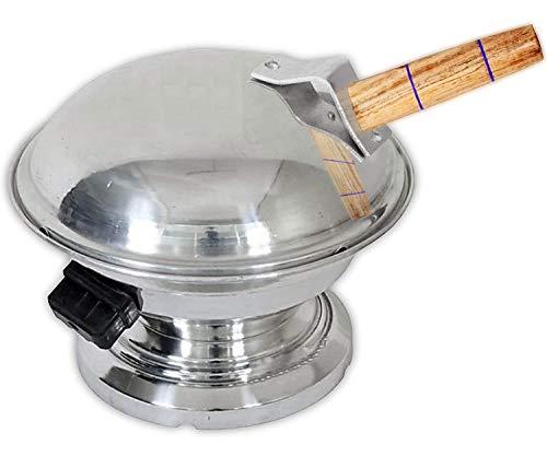 Aluminum Tandoor Bati Maker Baking Oven, 25 x 25 x 35 cm, 1 Piece, Silver Gas Tandoor…