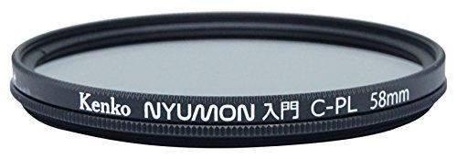Kenko Nyumon Wide Angle Slim Ring 58mm Circular Polarizer Filter, Neutral Grey, Compact (225850)