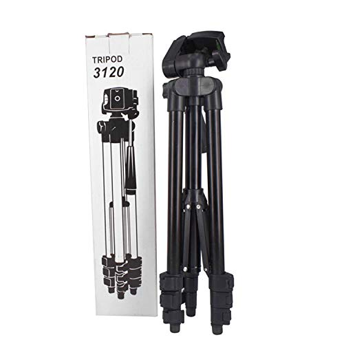ANITECH 3120A Foldable Camera Tripod with Mobile Clip Holder Bracket