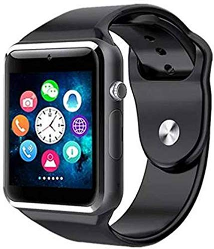 ProofZon A1 Bluetooth Compatible with All 3G/4G Touch Screen Smart Wrist Watch Phone with Camera- Black