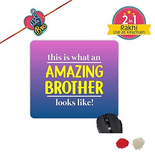 TheYaYaCafe Yaya Cafe Bhaidooj Birthday Gift for Brother, This is an Amazing Brother Printed Mouse Pad