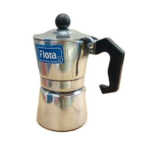 Flora Large Aluminum 8 Cups South Indian Filter Degree Kaapi/Coffee Machine or Percolator Or Italian Espresso Maker Or Decoction Coffee Maker Cup or Moka/Mocha Pot - Large