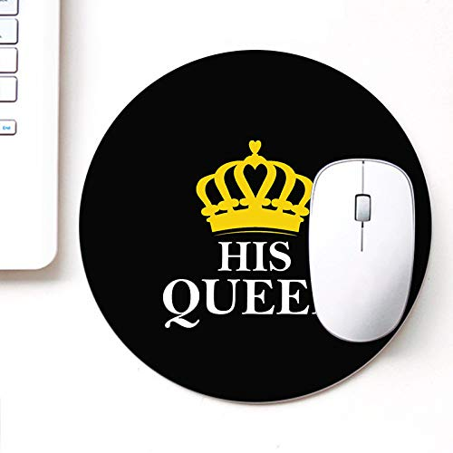 DASM United UVDesigner Printed Round Mouse Pad for Laptop n Computer | Queen Blck | Mousepad for Gamers | Gaming Mousepad