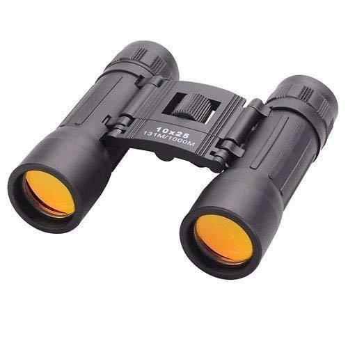 Tat-Sat Compact 10x25 Mini Binoculars Telescope Sports Hunting Camping Survival Kit - Black