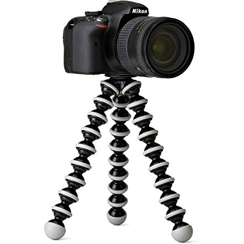 ehook Gorilla Fully Flexible Foldable Octopus Medium Size Tripod Stand for Mobile Smartphones, DSLR Cameras (White and Black, 10 Inches)