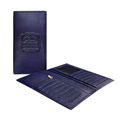 ABYS Genuine Leather Passport Wallet||Mobile Cover (Blue)