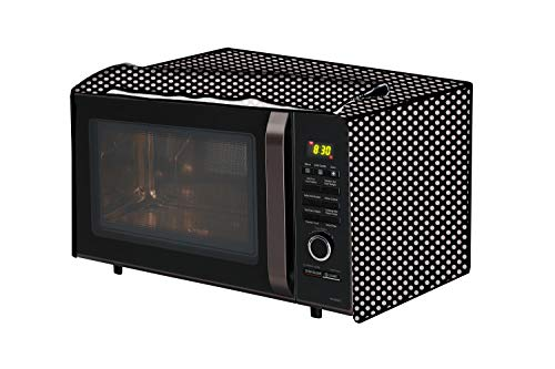 The Furnishing Tree Microwave Oven Cover for IFB 38 L Convection 38SRC1 Polka dot Pattern Grey
