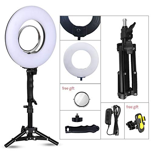 Generic 8 inch 24W 5500K 120 LED Photographic Lighting Dimmable Camera/Photo/Phone/Studio Photography Ring Light Lamp&Tripod Stand Color Pink