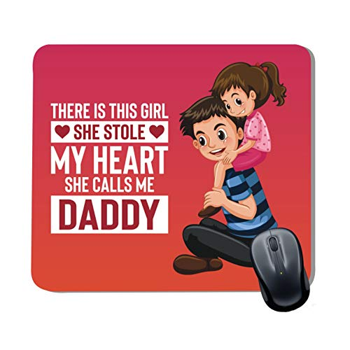 Family Shoping She Stole My Heart She Calls Me Daddy Printed Mousepad for Dad Special Computer System Pc