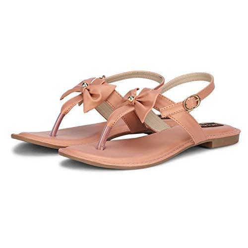 FASHIMO Women's Flat Sandals A1-peach-36