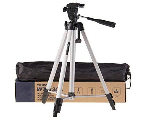Good Design Tripod 330A Smart Aluminium Adjustable Portable and Foldable Tripod Stand Clip and Camera Holder (Black)