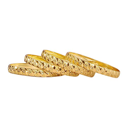 Mala Jewellers Gold Plated Brass Bangles Bracelet For Womens and Girls (2.6 inch)