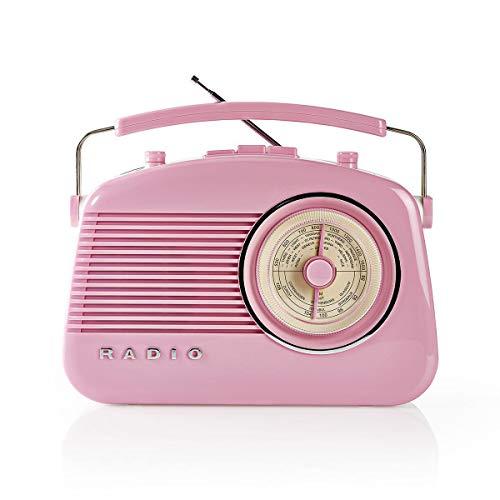 NEDIS FM Radio 4.5 W Carrying Handle (Pink)