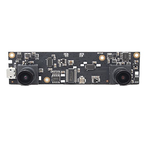 ELP USB Camera 1080P 2Megapixel Dual Lens 3D Stereo VR Camera HD OTG UVC Plug and Play USB 2.0 Video Webcam Camera Module for Android,Linux,Windows,MAC