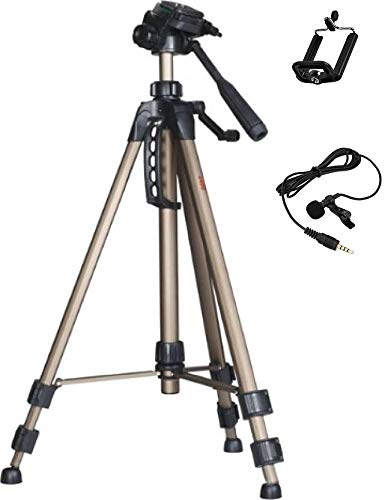 Simpex 2400 Tripod Combo with Free Mobile Holder and Microphone
