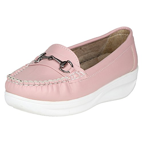 FASHIMO Women's LoaferMS1-Light Pink-39