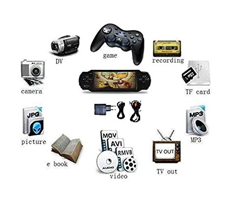Medaline BLACK PSP gaming console with Music, Alarm, videos MD_068