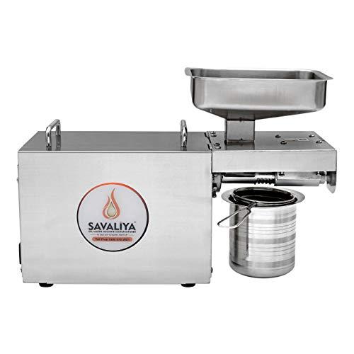 Savaliya Industries SI-702 Fully Automatic Stainless Steel Press Oil Maker Machine (घरबैठे खाद्यतेल बनाने का मशीन):: Made in India ::