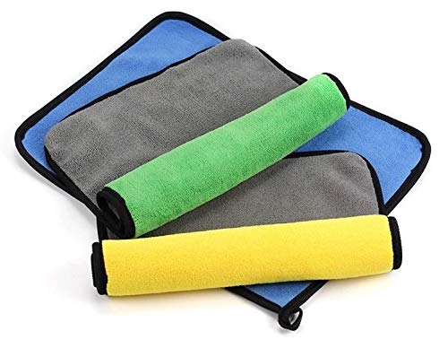 Motorola Moto Tech 800 GSM Big Size Multipurpose Microfiber Cloth For Cleaning, Dusting, Detailing and Polishing for Any Vehicle, Home, Office   40x40 Cm (2 Pack)