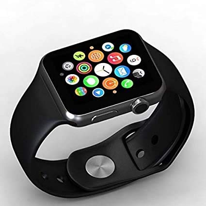 TrendBerry A1 Bluetooth for Android, iOS & Smart Phone Smart Watch for Men and Women (Black)
