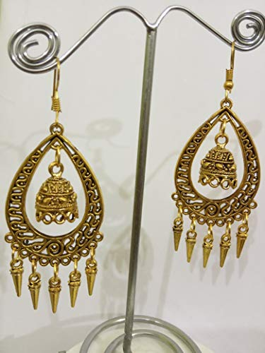 MITRAS COLLECTIONS PRESENTS Traditional Designer Gold Plated Earrings for Women MIT#021