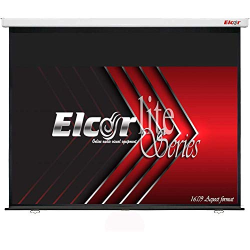 ELCOR® lite Series Manual Theater/Home Theater Wall Type Projection Screen 165- Inches Diagonal in 16:09 Wide Format, 7- feet x 12- feet, Ultra HD, 3D, 4k Technology