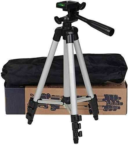 Online India Tripod-3110 40.2 Inch Portable Camera Tripod with Three-Dimensional Head & Quick Release Plate for Canon Nikon Sony Cameras Camcorders