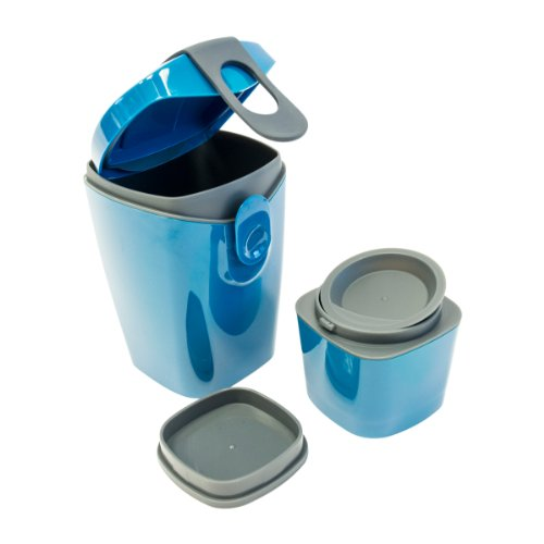 Unikia(Europe) - Compleat Energy Booster Bottle w/ 3 compartments Lunch Box Suplement - Blue