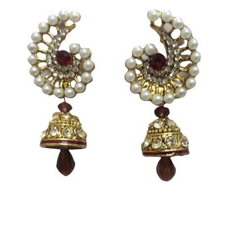Fashion earring pearl jhumka jhumki