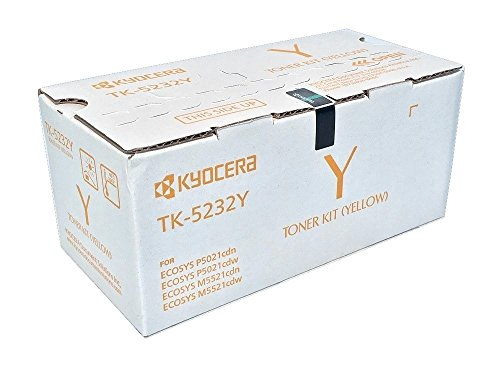Kyocera OEM TK-5232Y Yellow Toner. High Yield Toner: Yellow for P5021cdw and M5521cdw