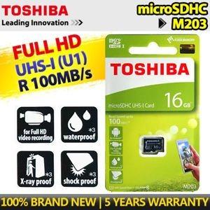 TOSHIBA 16GB microSDHC UHS-I CARD 10CLASS