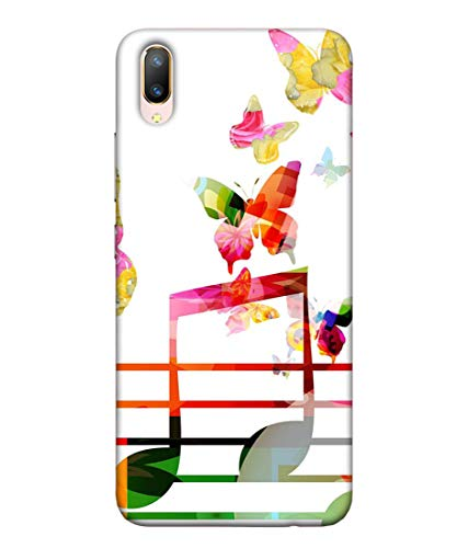 S SMARTY Butterfly with Music Printed Hard Case Mobile Back Cover for Vivo V11 Pro
