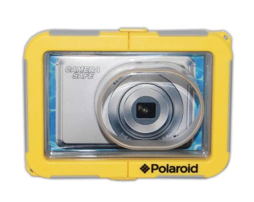 Polaroid Dive-Rated Waterproof Camera Housing For The Panasonic Lumix DMC-FH1, FH2, FH3, FH6, FH7, FH8, FH20, FH22, FH25, FH27, FS10, FS11, FS16, FS18, FS22, FS30, FS33, FS35, FX40, FX48, FX66, FX68, FX77, FX78, S1, S2, S3, SZ1, SZ7, ZR3, ZX3 Digital Came