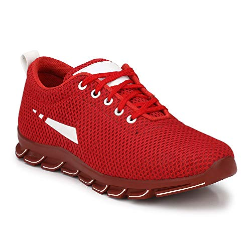 SHOE DAY Running Shoes for Men (10) Red