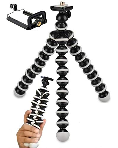 ShopAIS Gorilla Tripod/Mini Tripod 10inch for Mobile Phone with Holder for Mobile, Flexible Gorilla Stand for DSLR & Action Cameras