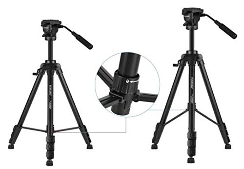VTS Cameras Tripod with Bag for Digital SLR & Video Cameras Load Capacity 5000 Grams,Lightweight Tripod (Maximum Load 15kgs), 5.45 Feet Tall Digital SLR & Video Cameras, Made Aluminium Material