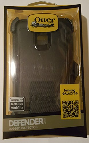 Otterbox Defender Series Case with Holster Clip for Samsung Galaxy S5 - Retail Packaging - (Black)