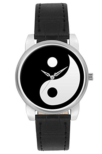 BigOwl Wrist Watch for Women - Branded Unique Yin Yang Fashion Watches for Girls - Best Black & White Dial Casual Analog Leather Band Watch (Perfect Gift for Yin Yang Lovers)